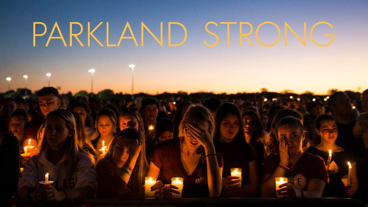 Thousands gathered at Pine Trails Park on Thursday, Feb. 15, 2018 for a candlelight vigil in honor of the 17 victims of the mass shooting at Marjory Stoneman Douglas High School in Parkland, Florida.