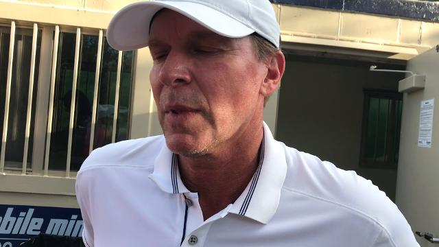 Steve Stricker ended up tied for second after sharing the lead with two holes left at the Chubb Classic at TwinEagles Club on Sunday, Feb. 18, 2018 in Naples, Fla.