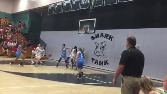 Gulf Coast junior forward Marina Hodo made a big contribution off the bench for the Sharks, scoring 14 points and doing a nice job defensively as Gulf Coast routed NOrth Port 73-33 in a Class 8A regional semifinal game.