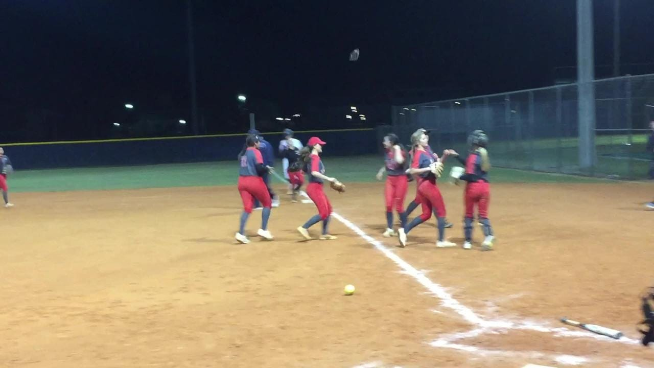 North Fort Myers pitcher Emma Johnson induced a pop-up from Alexandra Salter, ending a 12-1 win over Estero.
