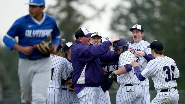 North Kitsap's baseball team knocked off Olympic 3-2 on March 21, 2018.
