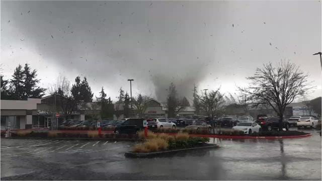 A tornado damaged homes and property in Port Orchard Tuesday.