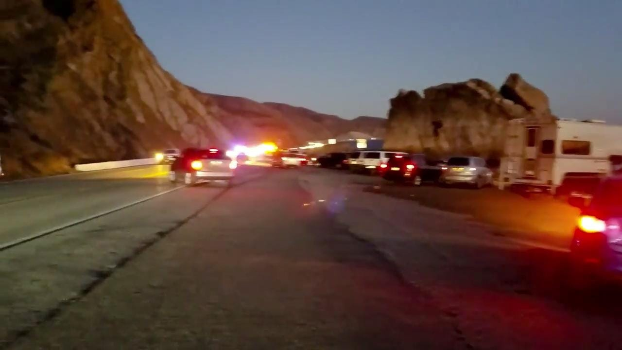 At the scene of fatal crash near Mugu Rock