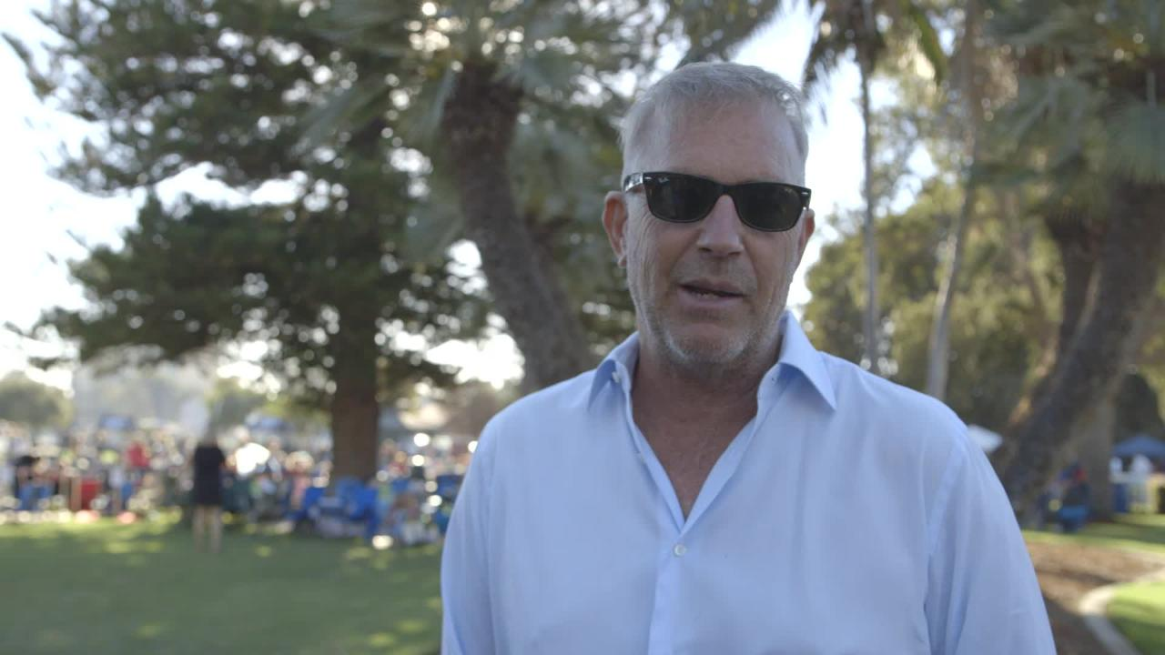 Kevin Costner interviewed at the Thomas Fire Benefit Concert