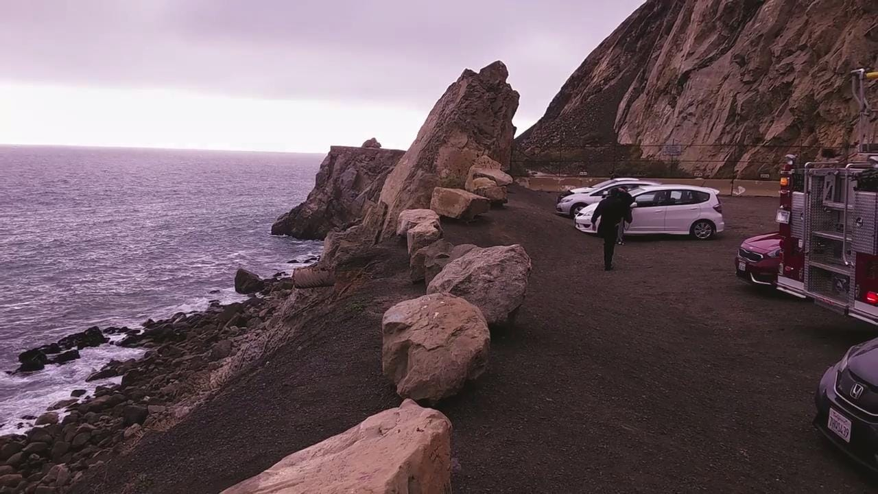 A man suffered major injuries when he went over a cliff and fell 30 feet at Mugu Rock between Malibu and Oxnard along Pacific Coast Highway.
