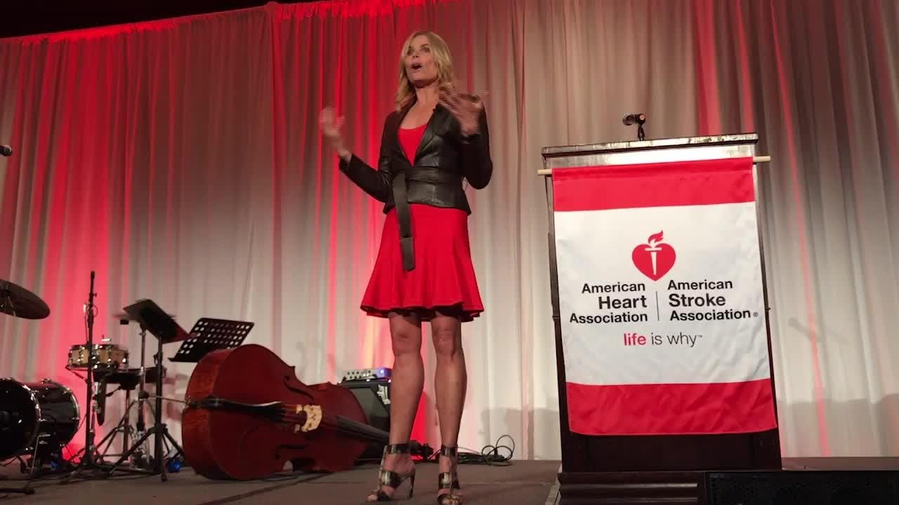 Actress Mariel Hemingway spoke during the Ventura County Go Red for Women event at the Four Seasons in Westlake Village.