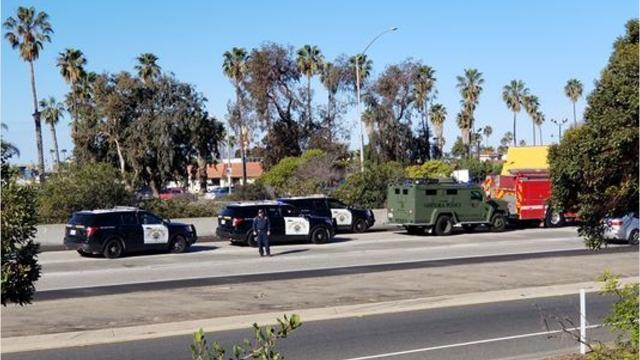 The suspect in a police pursuit Wednesday morning on northbound Highway 101 in Ventura has killed himself, according to the California Highway Patrol.