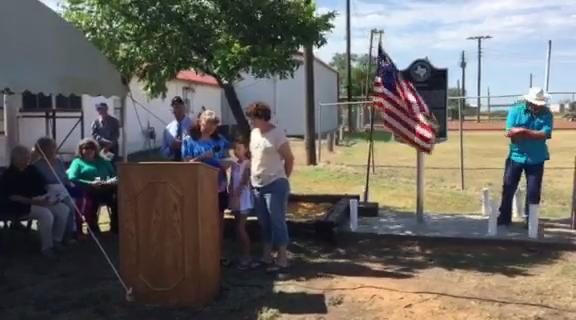 """Deep in the Heart of Texas"" is performed during a historical marker dedication in Rowena , Texas, on July 1, 2017"