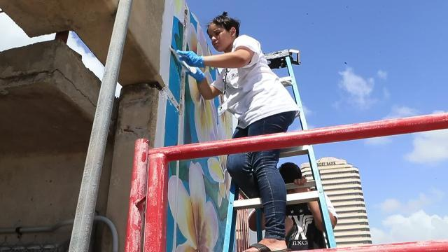 A summer art camp focused on mural arts held by K Space Contemporary is giving youth an opportunity to create lasting art in the form of a downtown mural. The mural is being installed over the course of five weekly art camp sessions.