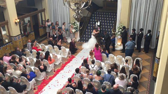 A video clip from the Davenport-Mercado wedding held at the Cactus Hotel July 8, 2017.