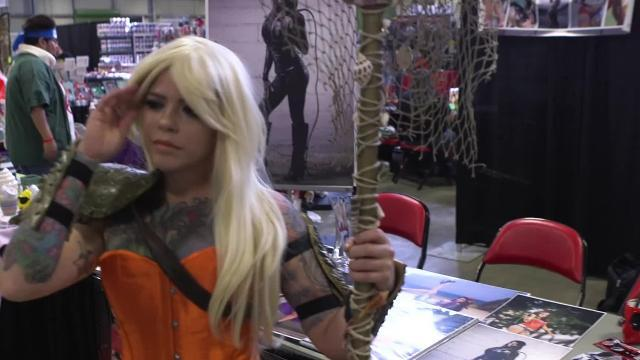 Cosplayer Rozzmonster at Corpus Christi Comic Con