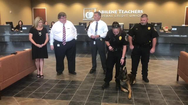 New Abilene Police dog Barco