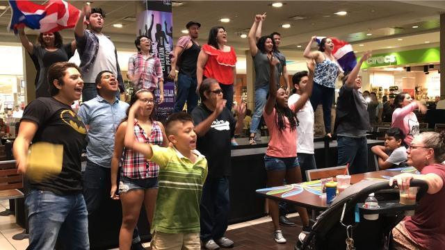 Cast of \u0022In the Heights\u0022 puts on surprise performance