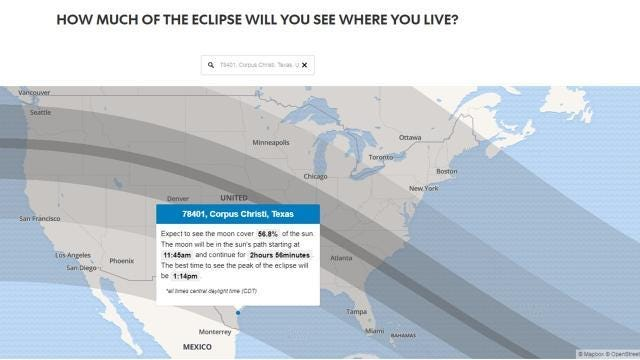 When and how to watch the solar eclipse in Corpus Christi