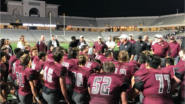 Three first-half turnovers spoiled an upset bid by Flour Bluff on Friday in the Class 5A Division I regional semifinals. Undefeated Angleton scored the final 42 points of the game to run away from the Hornets.