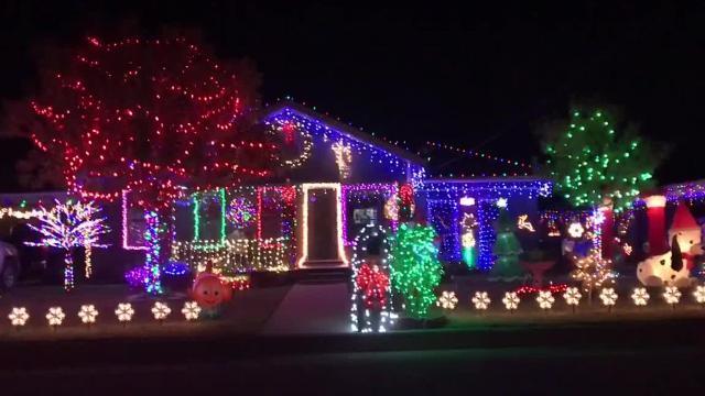 San Angelo's north side neighborhood lights display