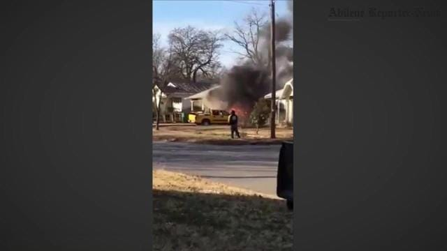 Eastland police at house fire