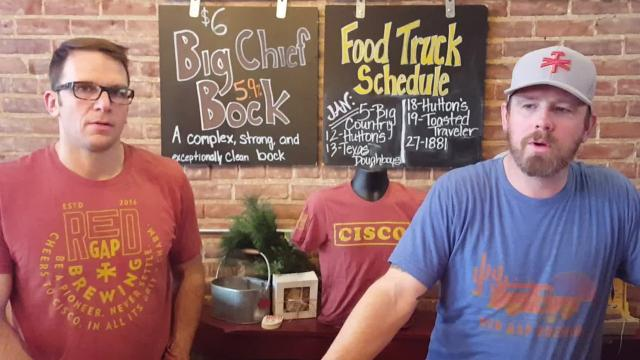 Brewing beer at Cisco's Red Gap Brewing Company