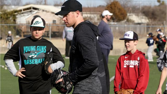 Brewers pitcher Chase Anderson held a basebal clinic Saturday in Wichita Falls.