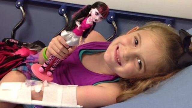 Sophia Campa-Peters, 9, of Brownfield suffers from a rare disease and has requested 10,000 prayers before major brain surgery in Boston on Friday, Jan. 26, 2018. Her story has reached the White House, which sent a message of support.