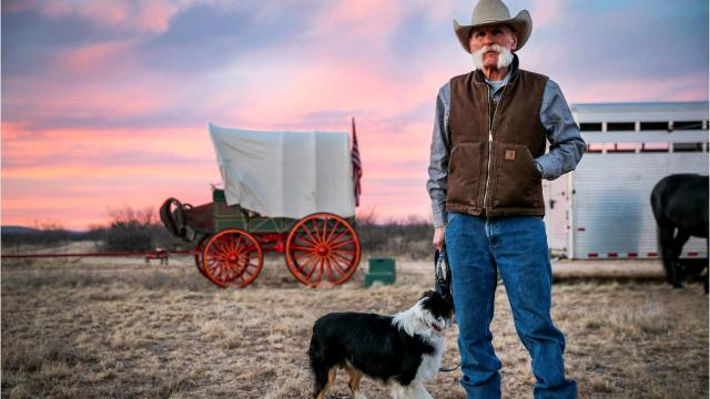 The week-long trail ride and wagon train meanders through the countryside to San Angelo. The ride is part of the kickoff for the San Angelo Stock Show & Rodeo.