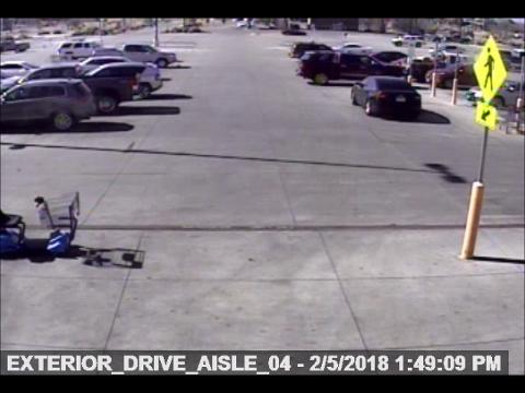 The San Angelo Police Department released this video of a suspect in a hit-and-run that occurred about 1:50 p.m. Monday, Feb. 5, 2018, at the Walmart at 3440 S. Bryant Blvd.