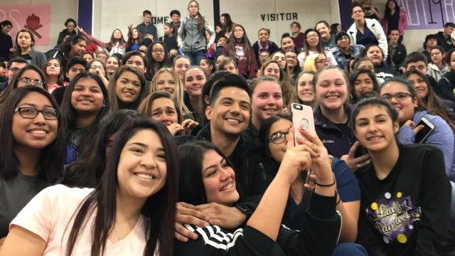 Singersongwriter luis coronel visits storm ravaged aransas pass regional mexican singer luis coronel urges aransas pass students to follow their dreams m4hsunfo