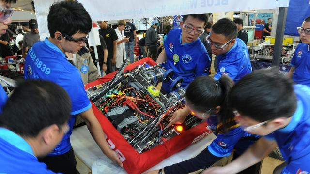 First or For Inspiration and Recognition of Science and Technology is an international robotics competition that gives children an opportunity to learn more about science and technology as well as inspire them to pursue in these types of fields.