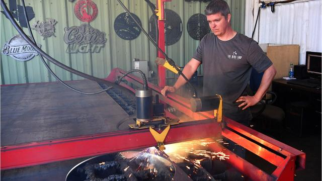 The Burn Shop Creates Designs in Steel