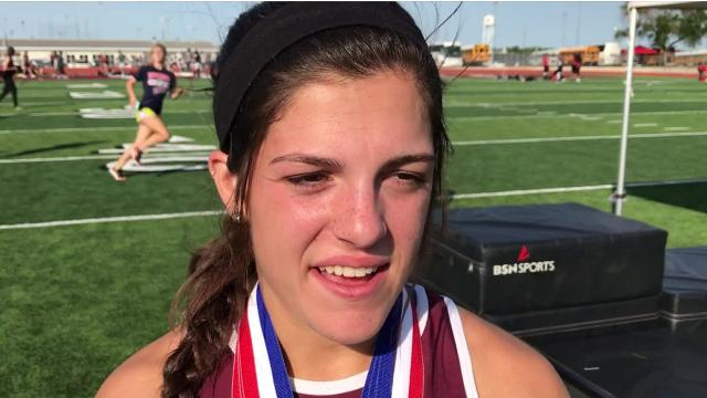Calallen's Brooke Barrington repeated her triple gold medal performance from the district meet on Thursday at the 29-5A/30-5A Area meet in Floresville. The senior won the 400-, 800- and 1,600-meter runs.