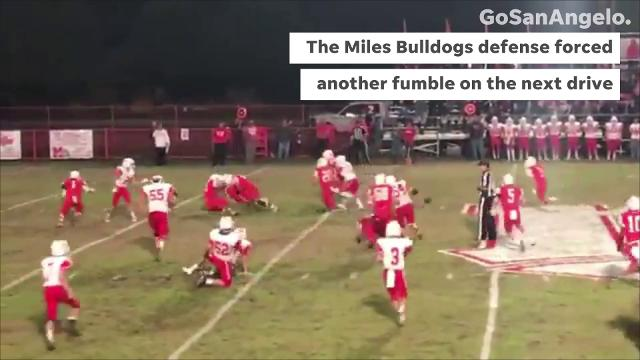 The Miles Bulldogs scored twice in the final 10 minutes to pull off an exciting comeback against Christoval on Friday, Nov. 2, 2018, in the Standard-Times Game of the Week.