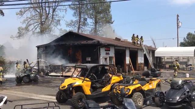 SEE THE SCENE: North Redding fire