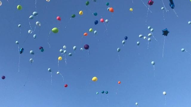 Balloons for Joshua Ahlberg