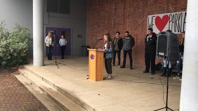 Hundreds of students across Shasta County campuses on Wednesday participated in local observances of a nationwide protest of American gun laws spurred by the Parkland, Florida, shooting last month.