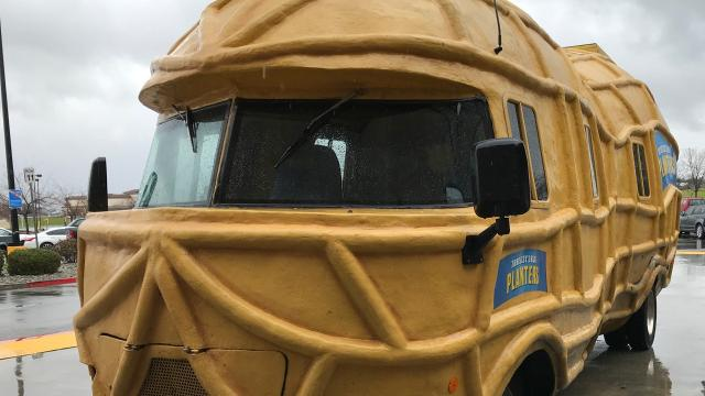"The giant peanut-on-wheels drew a lot of attention in Anderson on Thursday parked outside Walmart. More stops are planned in Redding, Palo Cedro and Shasta Lake. As the crews says: ""Cashew later."""