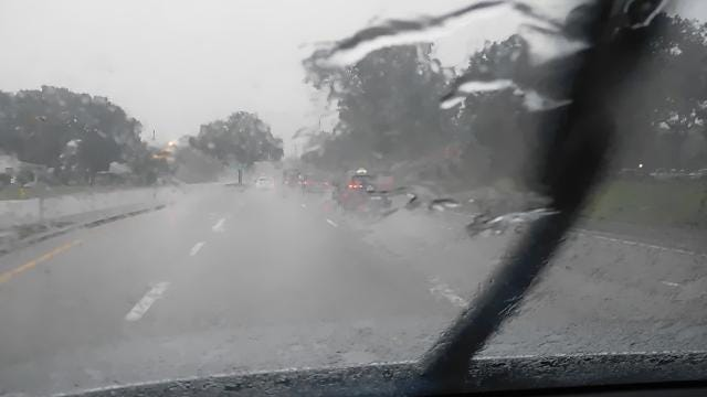 Raw video: Heavy rain moves through Indian River County