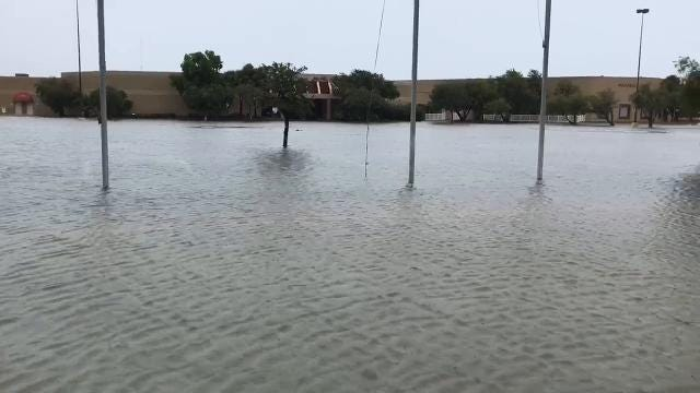 Video: Irma causes flooding at Orange Blossom Business Park