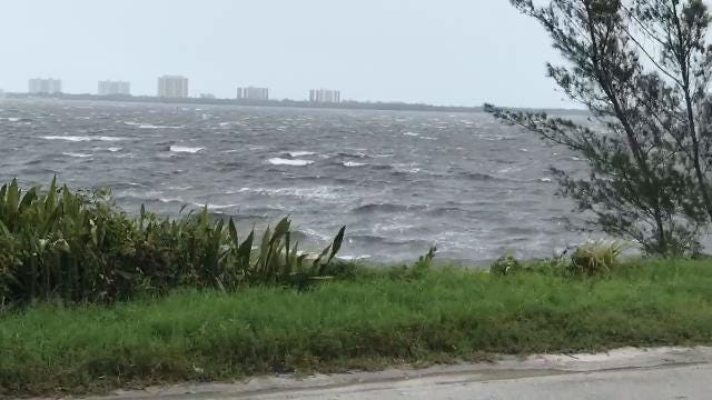 Video: IR Drive in St Lucie has trees down, flooding