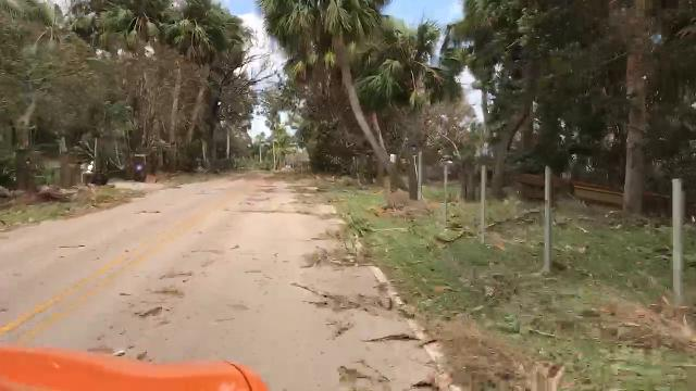 Video: Indian River Drive covered in debris