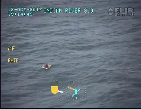 Three men were able to make it to shore after  the Indian River County Sheriff's Office dropped a raft to them.