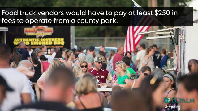 A new proposal would allow vendors to sell food at six county parks. KEONA GARDNER/TCPALM