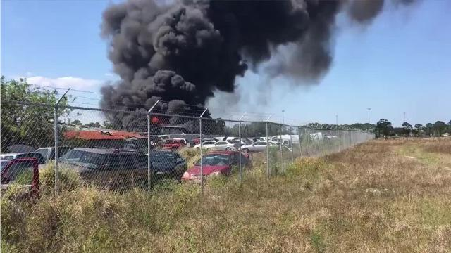 The fire was reported at 3:28 p.m.
