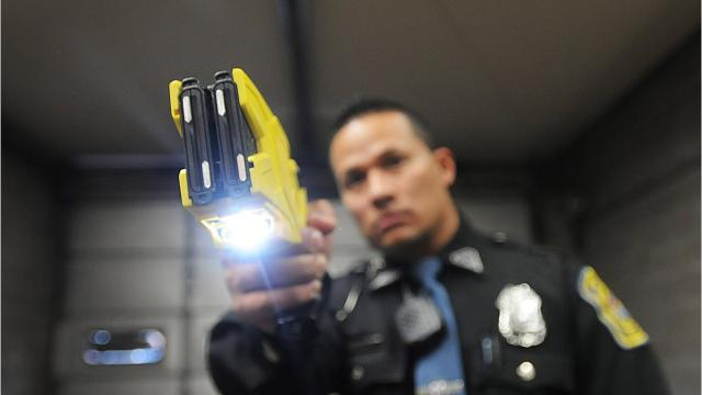 A traffic accident and hit-and-run attempt led to a physical altercation involving an activated taser.