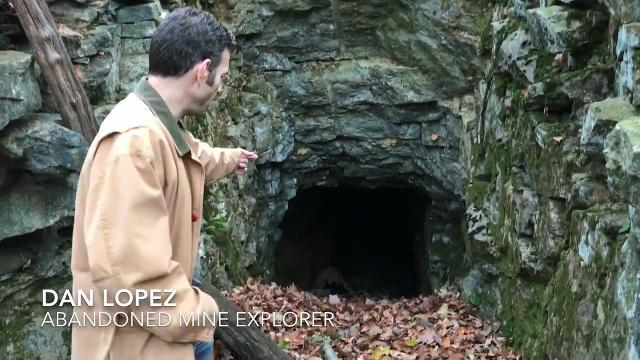 Explorer Dan Lopez takes us inside an abandoned mine tunnel at the Raynor Mine in Warwick, N.Y.