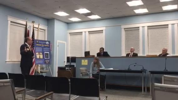 Bergen County clerk John Hogan presented a collage of historic documents to Ridgefield Park officials Tuesday night.