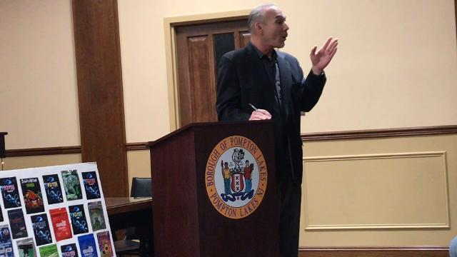 Skip McLaughlin, a student assistance counselor at Pompton Lakes High School and counselor at New Life Recovery Center, discusses drug abuse at a forum in Pompton Lakes on Nov. 30, 2017.