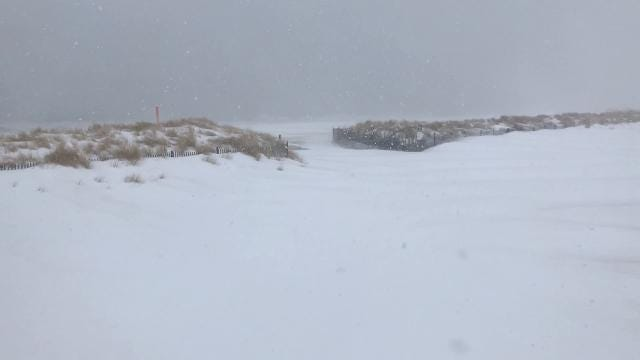 Raw video: bomb cyclone hits Bradley Beach
