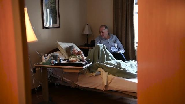 Dave Woods has been diagnosed with terminal cancer. He volunteers at Villa Marie Claire in Saddle River, the same hospice center where he chooses to die.