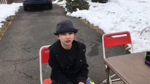 Michael Lawson and his sons, Landon, 12, and Zac, 9, held a lemonade stand on Feb. 19 and raised more than $363 for the official GoFundMe page for the victims of the shooting at Marjory Stoneman Douglas High School in Parkland, Fla.