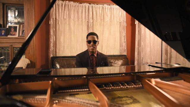 Matthew Whitaker, a teen-age piano prodigy from Hackensack, is making quite a splash on TV and in concert venues worldwide. Whitaker plays the piano at his home on Friday February 16, 2018.